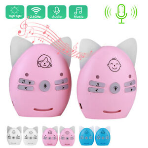 2.4Ghz Wireless Cute Baby Monitor Night Light Two-Way Talk Security Monitoring