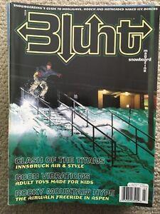 Blunt Snowboarding Magazine #21 Jeremy Jones Cover Airwalk Freeride