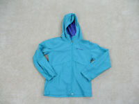 Columbia Jacket Girls Small Green Purple Outdoors Hooded Parka Coat Kids Youth *