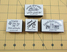 Stampin Up Hand Stamped By Stamp Set of 4 Foam Mounted Flowers Cat 1996