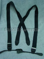 Old West Victorian black canvas X back re-enactment mens suspenders USA