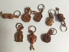 CHINESE WOODEN KEY CHAIN NEW - ONE KEY CHAIN