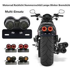 LED Motorrad RücklichtBlinker Bremslicht Heckleuchte Nummernschild Lampe Smoke