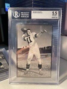 1953 Rams Team Issue 33 Norm Van Brocklin HOF RARE BGS 5.5 EX+ Set Break.