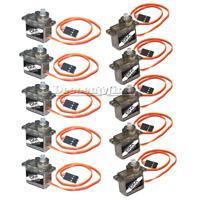 10PCS MG90S Metal Gear 9g Micro Servo Speed Torque for RC Mini Plane Helicopter
