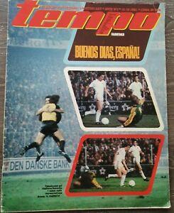 Magazine TEMPO 812 football Denmark Yugoslavia FIFA WC 1982 qualification 1981