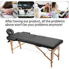 84''L 2Fold Portable Massage Table Facial SPA Bed Tattoo w/Free Carry Case  T