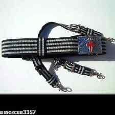 Knight Templar Masonic Sword belt Silver hardware York Rite  Masons Templar