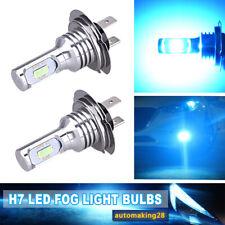H7 LED Headlight Bulbs Conversion Kit High Low Beam 55W 8000LM 8000K Ice Blue