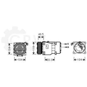 Compresor Aire Acondicionado Compresor de Peugeot Lancia Fiat 807 406 Break