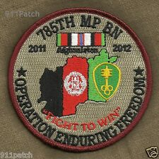 785th MILITARY POLICE BATTALION 11-12 Afghanistan OEF Fight to Win US ARMY Patch
