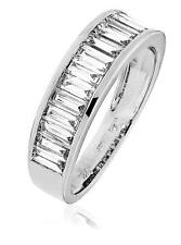 Diamond Eternity Ring Wedding Band 1.30ct F VS Baguette Cut in 18ct White Gold