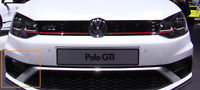 New Genuine Volkswagen Polo GTI Front Right Bumper Lower Grille 6C0854322GRU OEM