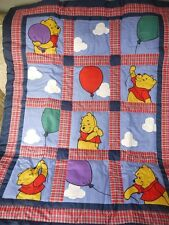Disney Winnie The Pooh 3 Pc Nursery BALLOON PLAY Baby Boy Crib Bedding