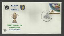 AUSTRALIA 2003 RUGBY WORLD CUP Souvenir Cover NAMIBIA v ROMANIA  30/10/2003