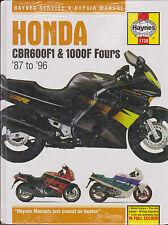 1987-1996 Haynes Honda CBR600F1 & 1000F Fours Hardback Repair Manual