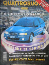 Quattroruote 487 1996 Fiat500 cambia.Inserto Chrysler Voyager3.3 e LanciaK Coupé