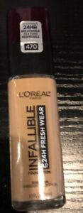 L'Oreal Paris Infallible 24 Hour Fresh Wear Foundation 470 Radiant Honey New