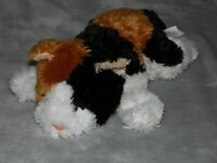CUDDLE CREW CAT SOFT TOY WHITE BROWN BLACK COMFORTER DOUDOU