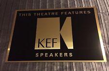 KEF Speakers  Cinema Sign