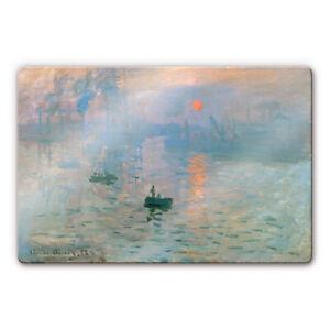 Glas Glasbild Monet - Impression blau
