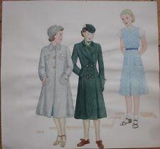 Original Art/Hand-Painted Fashion/Clothing Painting: 1935 - 10