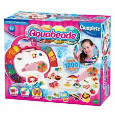 Aquabeads ARTISTS CARRY CASE Deluxe Set - over 1200 solid + jewel AQUA BEADS
