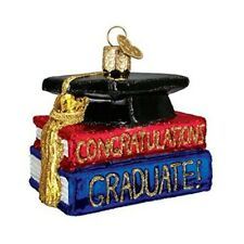 Old World Christmas 36091 Glass Blown Congrats Graduate Ornament