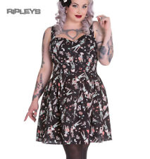 HELL BUNNY Goth Mini Dress ICE SCREAM Zombie Eyeballs Black All Sizes