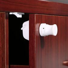 Plastic Safety Baby Magnetic Cabinet Locks - No Tools Needed (4 Locks+1 Key) LN