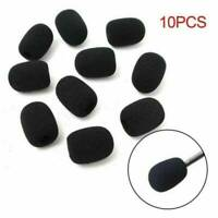 10PCS Black Headset Microphone Pop Filter Sponge Cover For Microphone Headset