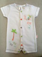 Pumpkin Patch Baby Boys Embroidered Romper All In One Playsuit Newborn