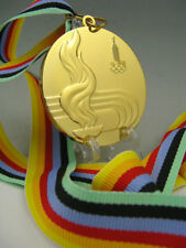 1980 Moscow Olympic Gold Medals with Ribbons & Stand 1:1 **Free Shipping**