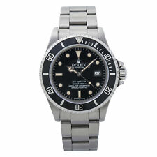 Rolex Sea-Dweller Vintage 16660 Triple Six Patina Dial Automatic Watch 40mm 1976