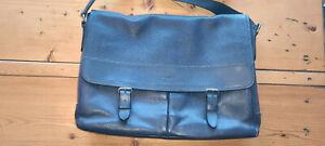 Coach Navy Leather Messenger/Laptop Bag