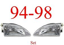 94 98 Mustang 2Pc Head Light Set, Ford, Complete Assemblies, 95 96 97 V6, V8, GT