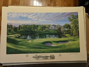 2011 US Open CONGRESSIONAL CC 10th Hole Linda Hartough Signed Print 46/850 LOW #