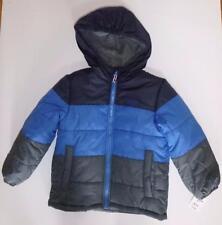 NWT Boys OSH KOSH B'GOSH Jacket Winter Coat Hood Size Med 5/6 Blue Navy Gray