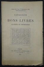 Catalogue de bons livres anciens et modernes / Nov - 1891