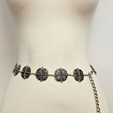 Antique Silver Western chain belt