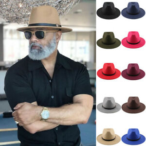 Parent-child Men Women Kids Boys Panama Hats Fedora Sunhat Trilby Caps Wide Brim
