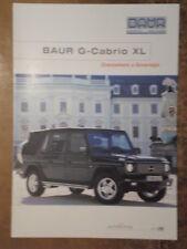 MERCEDES BENZ BAUR G CABRIO XL orig 2002 Sales Brochure - 4x4 Wagen Series IVM