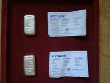 2 x 100g Metalor Silver Bar with Certificate (Last two) (No Reserve)