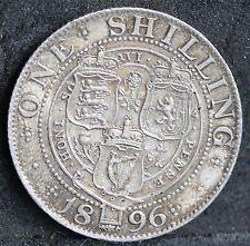 Victoria, Silver Shilling, 1896, Small Rose Variety. ESC 3159 R3. Very Rare