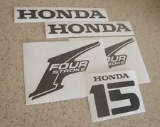 Honda Vintage 15 HP Outboard Motor Decals Die-Cut FREE SHIP + Free Fish Decal!