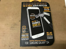 Armortech Ultimate Tempered Glass Screen Protection Shield Samsung Galaxy S4 NIB