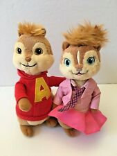 Ty Beanie Baby Babies Alvin and the Chipmunks Lot of 2 Brittney and Alvin Plush