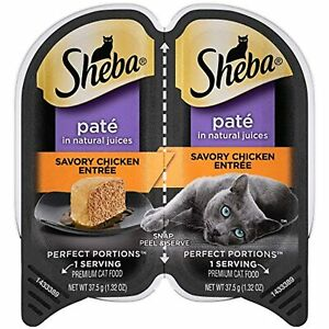 SHEBA PERFECT PORTIONS Soft Wet Cat Food (24) 2.6 oz. Twin-Pack Trays (OPEN BOX)
