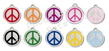 Peace Enamel/Solid Stainless Steel Engraved ID Dog/Cat Tag