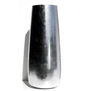 """GILT 18"""" Silver Gilded Zen Vase"""